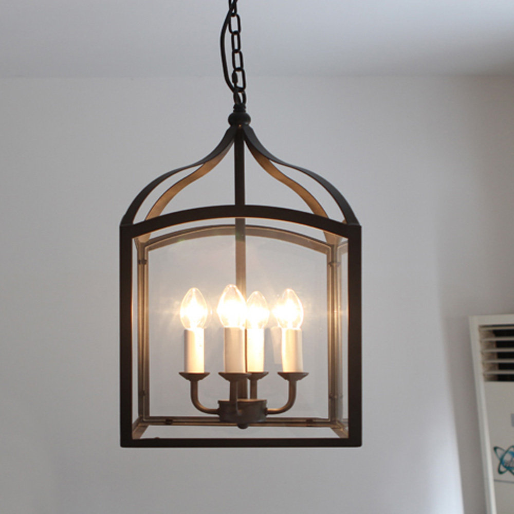 New Iron Art Craft Black Birdcage Pendant Lights Antique Pastoral Style  Chain Hanging Lamp 4 E14 Bulbs Home Room Decors Gift In Pendant Lights From  Lights ...