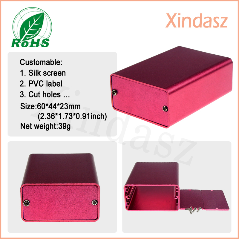 5pcs/Lot 60*44*23mm(L*W*H)aluminum project box aluminum case box electronic enclosures aluminum Free shipping купить