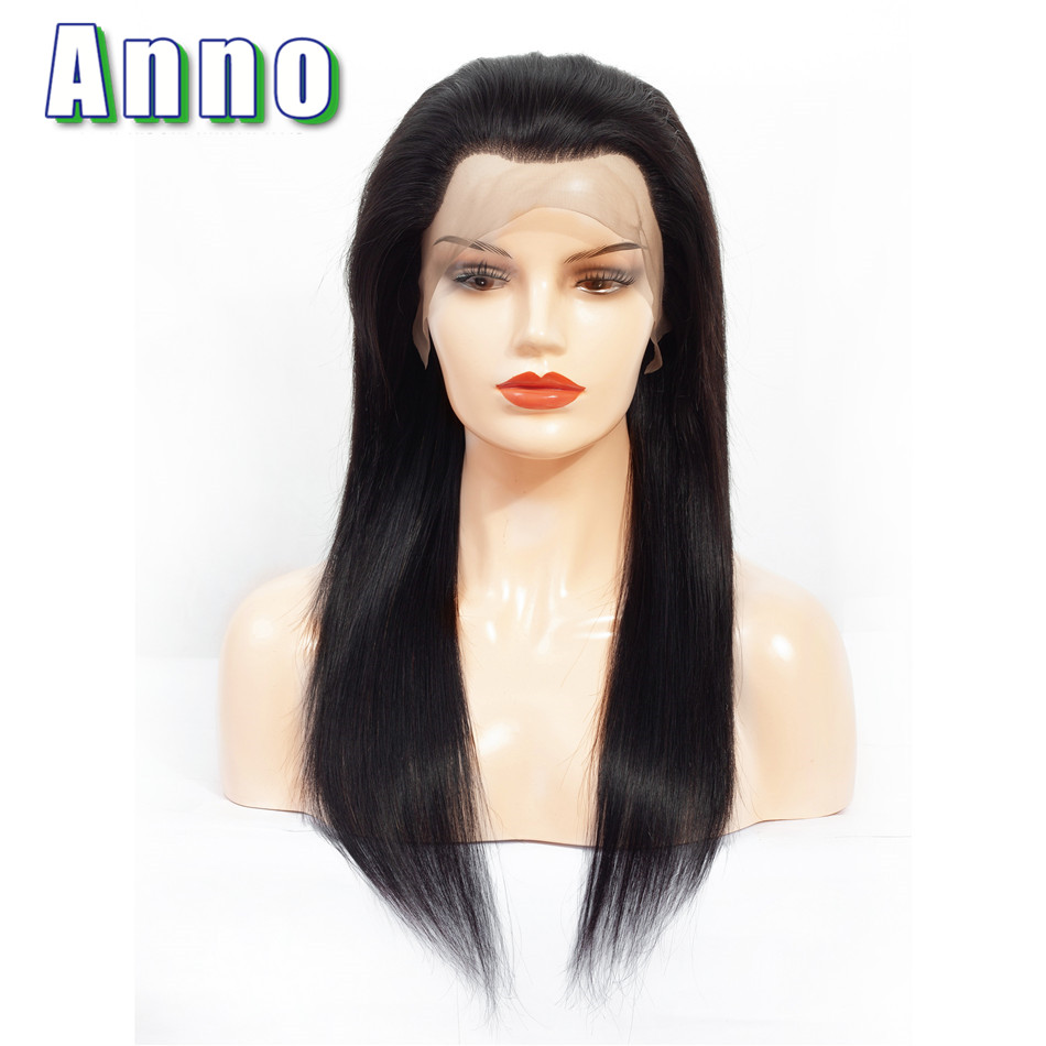 Annowig Human Hair Lace Front Wigs 10 22 Long Brazilian Straight Hair Wigs 13x4 Size Lace