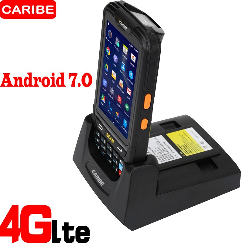 Caribe PL 40L Portable Android wireless data terminal top quality 2d qr code phone barcode scanner-in Scanners from Computer & Office