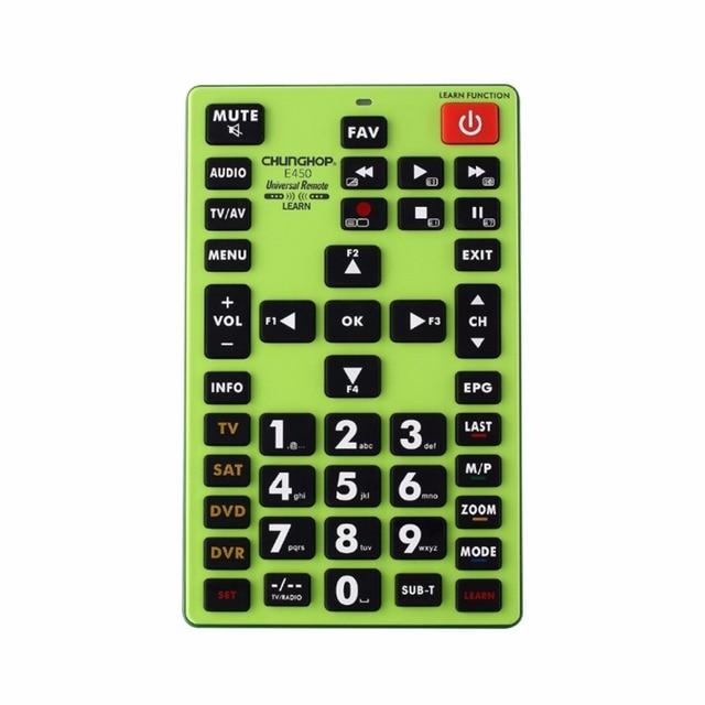 1PCS Chunghop E450 2AAA Combinational Remote Control Learn Ror TV SAT DVD CBL DVB T AUX Universal CE BIG REMOTE