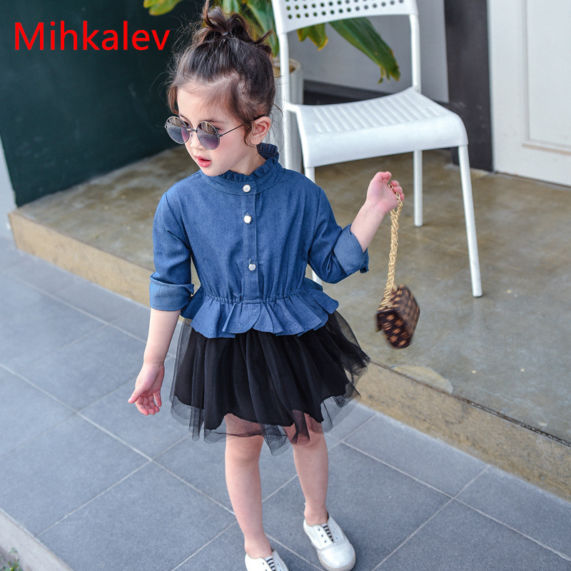 Mihkalev Cute a-line girl dresses for kids tutu dress patchwork baby girls ball gown for children princess clothing baby dress hot sale girls dress patchwork long sleeve kids dresses for baby girls ball gown princess dress spring children clothes costume