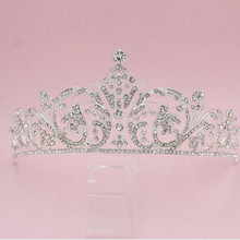 Free Shipping Crystal Crown Bridal Hair Accessory Wedding Rhinestone Tiara Crown Frontlet Bridesmaid Jewelry 3pcs/lot MYQC015