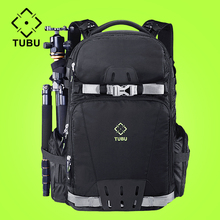 TUBU 6081 Dslr Camera Bag Photo Backpack Tripod Sport Bolso Reflex Bags With Rain Cover camera put 15.6-inch laptop
