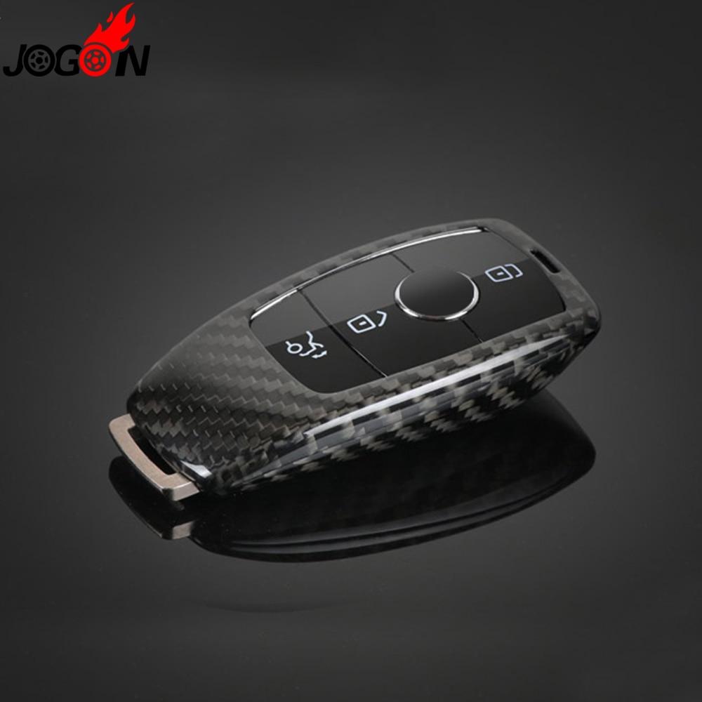 Real Carbon Fiber Remote Key Fob Case Shell Cover For Mercedes Benz E Class W213 E200 E300 E320 2016 2017 цена 2016