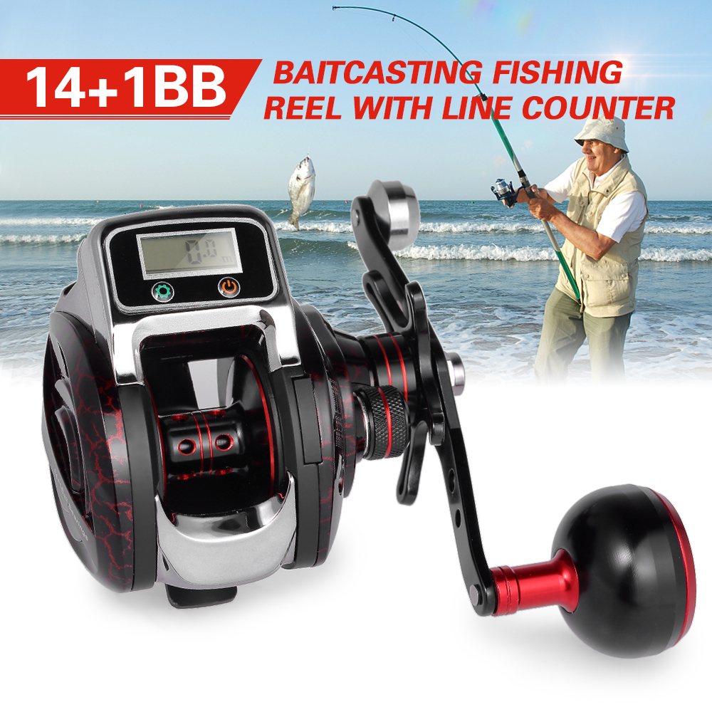14+1 BB Ball Bearing 6.3:1 Bait Casting Fishing Reel One way Clutch Baitcasting Reel Left/Right Hand Fishing Reel Fishing Line-in Fishing Reels from Sports & Entertainment    1
