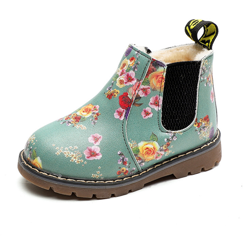 COZULMA New Children Boots For Girls Boys Shoes Kids Flower Boots Boys Kids Shoes Baby Toddler Martin Boots Girls Winter Shoes