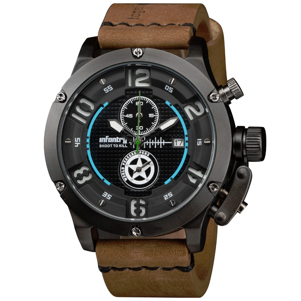 INFANTRY 2016 Luksus Brand Mænd Sports Watch Nightvision Quartz Ur - Mænds ure - Foto 2