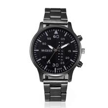 Watch Men Fashion Men Crystal Stainless Steel Analog Quartz Wrist Watch relogio masculino Dropshipping Perfect Gift N 30