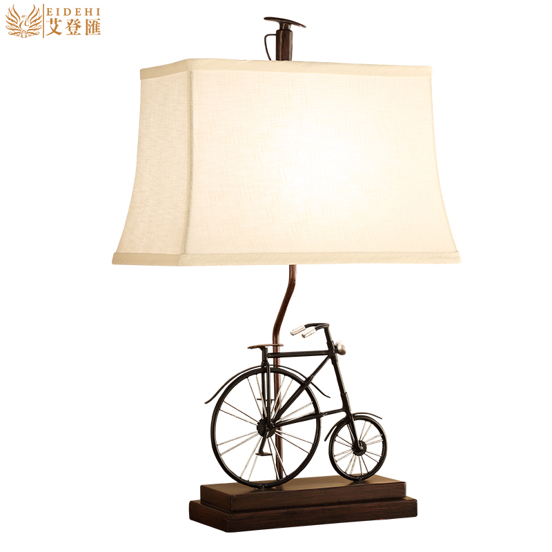 New Creative Rural Bike E27 Table Lamp For Childrens Room Gift Bar Restaurant Living Room Deco H 65cm 1421