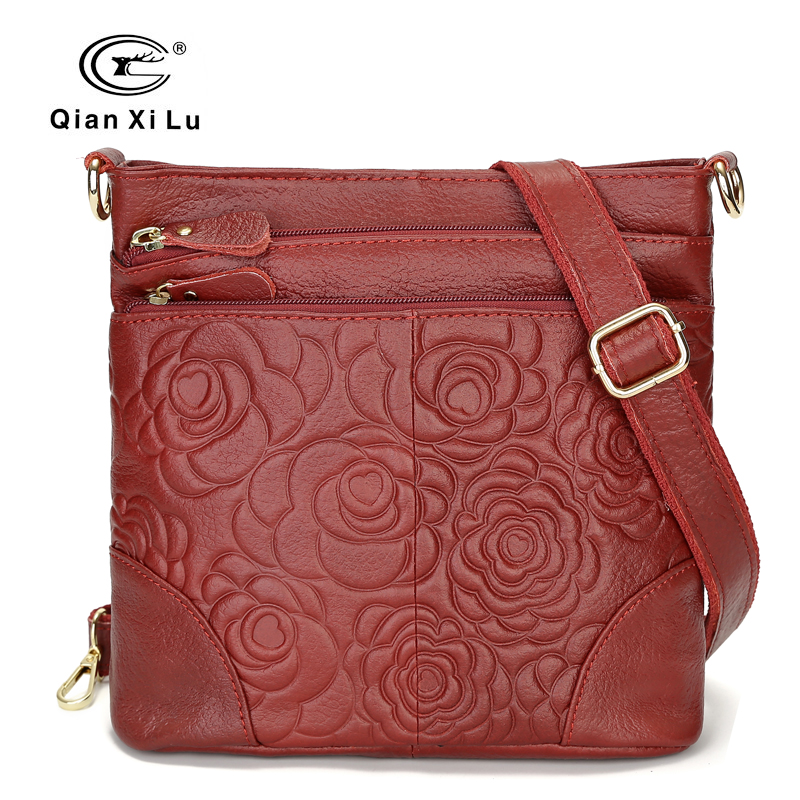 Vintage Bags For Women 2018 Genuine Leather Cross Body Bags High Quality Flower Tote Women Shoulder Messenger Bag 2018 new hot item high quality women handbag genuine leather bags women messenger bag vintage women bag shoulder cross body bags