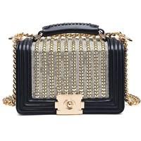 Luxury Women Leather Handbag Diamonds Sequined Fashion Women Bag Designer Handbags High Quality Famous Brand Tote