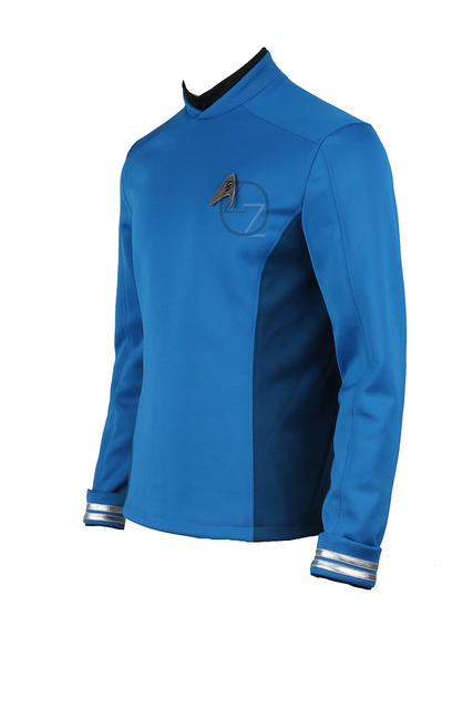 Star Trek Cosplay Star Trek Beyond Spock Science Officer Uniform Blue Top Shirt Halloween Carnival Costume Cosplay 1