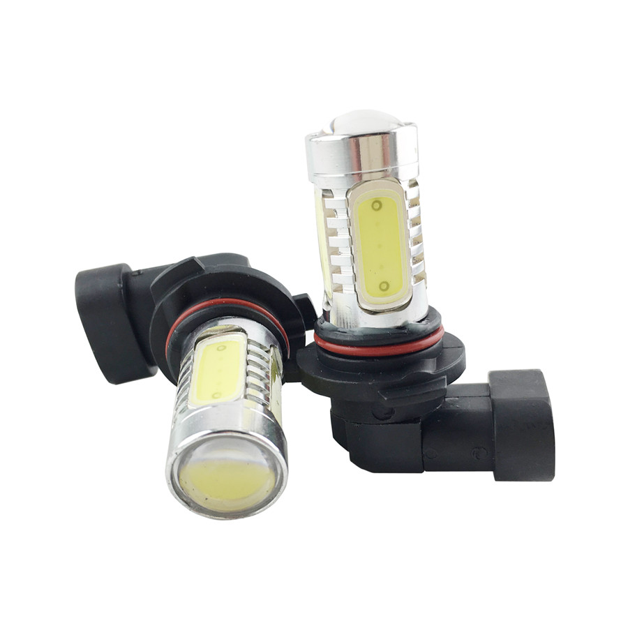 9005 HB3 9006 HB4 7.5W High Power COB LED Bulb Car Auto Light Source Projector DRL Fog Headlight Lamp White Yellow 9005 hb3 9006 hb4 7 5w high power cob led bulb car auto light source projector drl fog headlight lamp white yellow