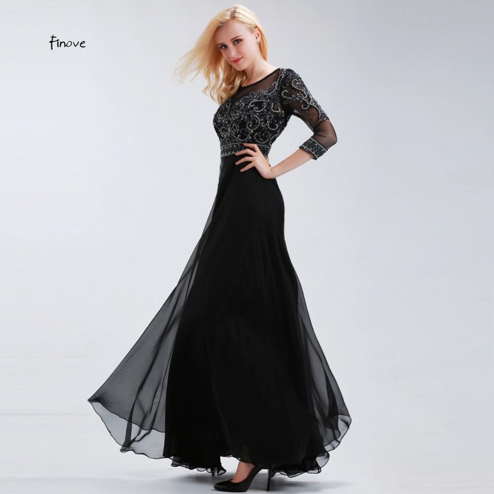 åDealFinove Dresses Evening-Gown Vestido-De-Festa Chiffon Mother-Of-The-Bride Formal Elegant