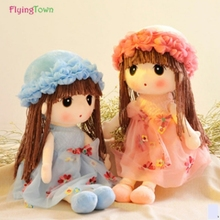 wholesale FlyingTown 42cm Creative Flower Fairy Mayfair Doll plush toys kawaii stuffed toy for kids girls doll
