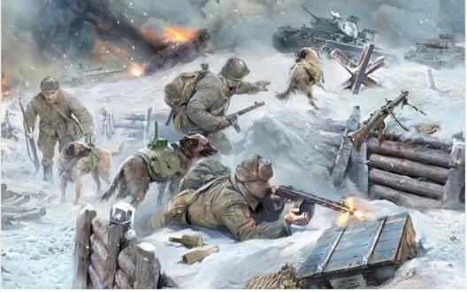 Art World War Wall Decor Painting Canvas Art Hd Print Fabric Soviet Troops Fight With