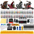 Solong Tattoo Complete Tattoo Kit 4 Pro Machine Guns 40 Inks Power Supply Foot Pedal Needles Grips Tips TK455