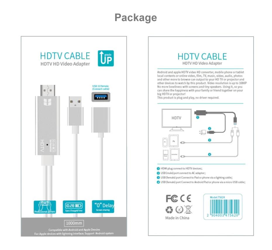 USB HDMI Converter Cable HDMI 14