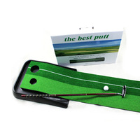 CRESTGOLF Indoor Golf Putter Trainer Practise Set Golf Putting Training Mat with Plastic Base 2 Sizes Available