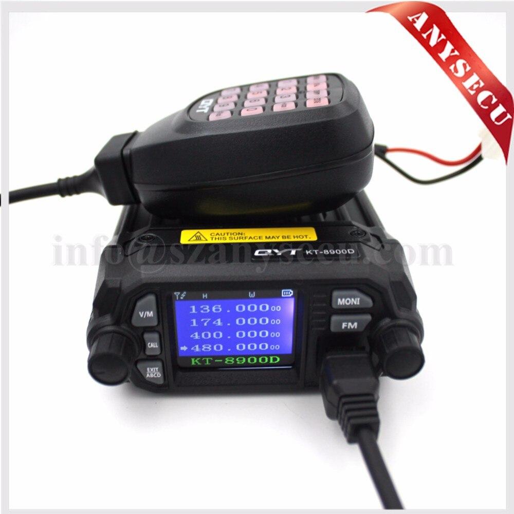 imágenes para NUEVO Producto! mini radio de coche qyt kt-8900d 136-174/400-480 mhz de banda dual quad dsiplay 25 w kt8900d transicever móvil