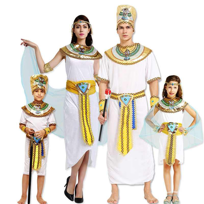 9 Model Egyptian Prince Clothes Pharaoh Costume Cleopatra Dresses Women Men Party Cosplay Clothing Adult Stage Performance Suits