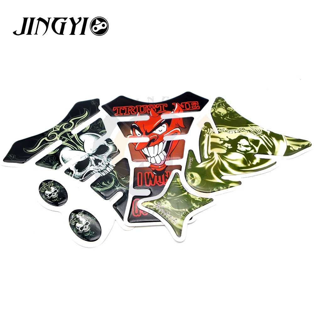Car sticker motorcycle decal fuel tank pad protector skull racing for yamaha stickers supreme stickers motorcycle