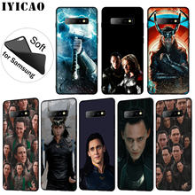 IYICAO Thor Marvel Loki Zachte Siliconen Telefoon Geval voor Samsung Galaxy S10 S9 S8 Plus S6 S7 Rand S10e E TPU Zwarte Cover(China)
