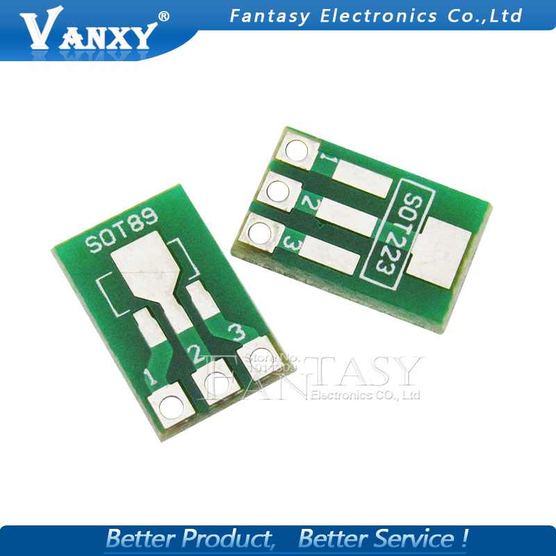 20pcs SOT89 SOT223 to DIP Transfer Board DIP Pin Board Pitch Adapter keysets ...