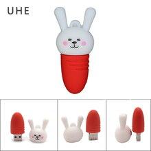 цена на Pendrive cartoon rabbit usb flash drive 4GB 8GB 16GB 32GB 64GB cute animal memory stick u disk personalized gift pen drive