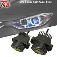 2X40 W Fit E90 E91 Série 3 LEVOU Angel Eyes Lâmpadas de Halo Anel Marcador Luz Branca Para Farol Xenon BMW #63117161444