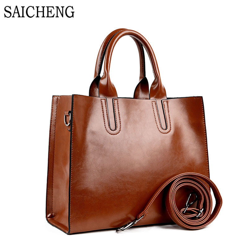 SAICHENG Brand PU High Quality Leather Women Handbag Fashion Shoulder Bags For G
