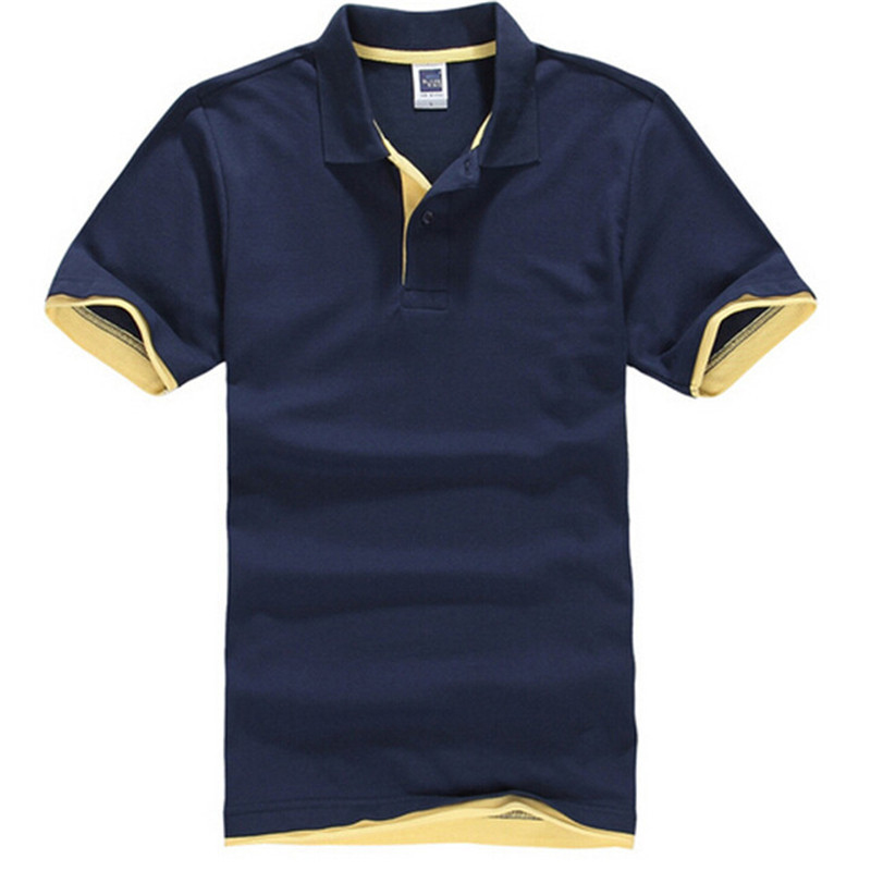 Fashion Solid Mens T Shirt Summer Casual Turn Down Collar Business T-Shirts...