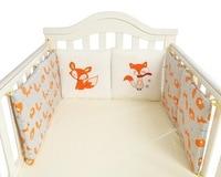 Little Fox Cotton Cartoon 6Pcs/Set Baby Bed Bumper Collision Bed Wai Children's Room Decoration Birthday Present