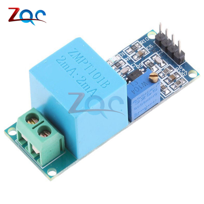 Active Single Phase Voltage Transformer Module AC Output Voltage Sensor for Arduino Mega ZMPT101B 2mA line hunting sensor module for arduino works with official arduino boards