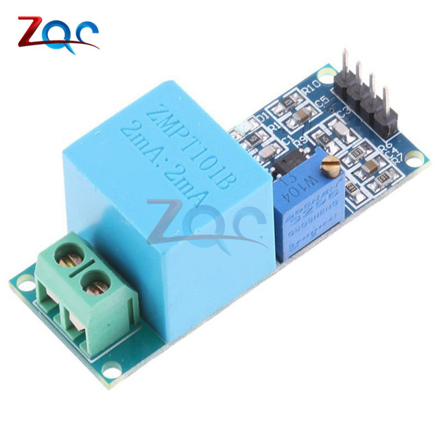 US $1 21 29% OFF|Active Single Phase Voltage Transformer Module AC Output  Voltage Sensor for Arduino Mega ZMPT101B 2mA-in Transformers from Home