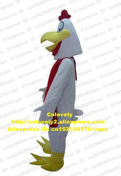 Cock Hahn Henne Huhn Chook Gamecock Maskottchen Kostüm Erwachsene Cartoon Charakter Kopf Form Ist Konische Drei Spitze Zehen Zz4278