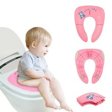 Kids Toddler Toilet Seat Cushion Plastic Baby Bathroom Potty Training Seat Cover Safety And Sanitary Anti-skid baby toilet cover round bathroom adult toilet seat with built in child potty training seat elongated white toilet seat cover bathroom accessories
