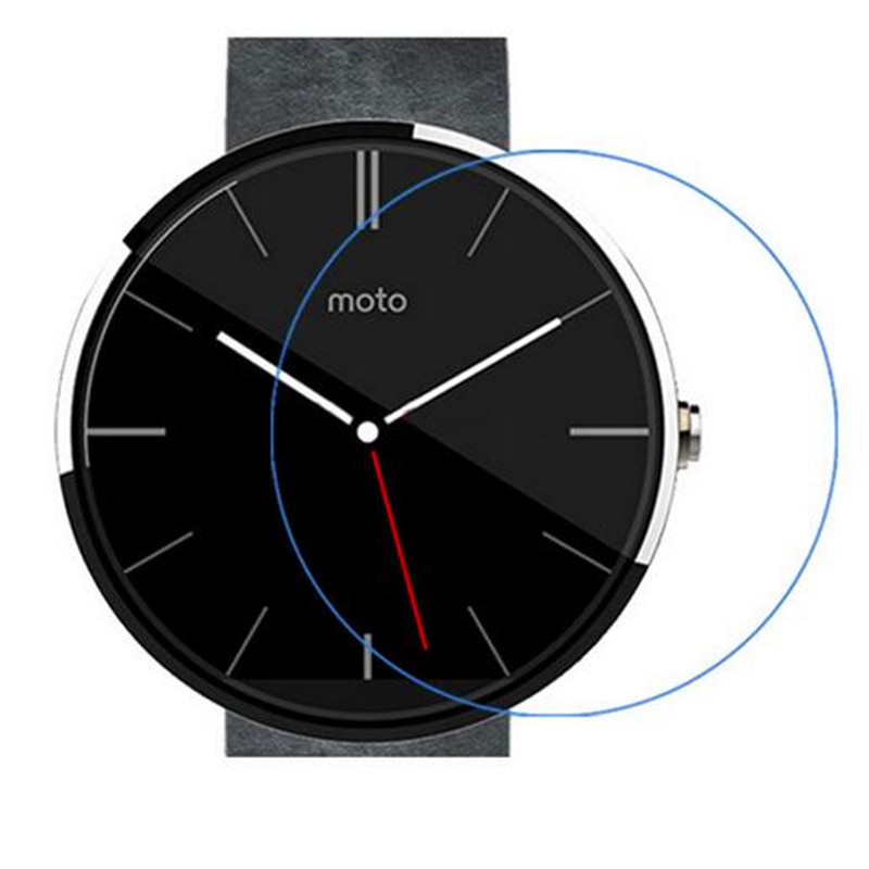 0 3mm Tempered Glass Suitable For Moto 360 font b Smartwatch b font 2 5D Arc
