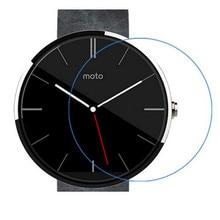 0,3mm Gehärtetem Glas Geeignet Für Moto 360 Smartwatch 2.5D Arc Rand 9 H Fest Transparenter Schirm-schutz mit Sauber werkzeuge 360