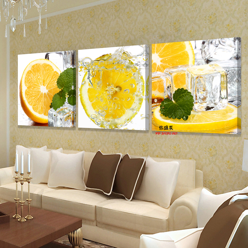 3 panel wall art painting on cuadros picture oil paintings for Kitchen paintings pictures