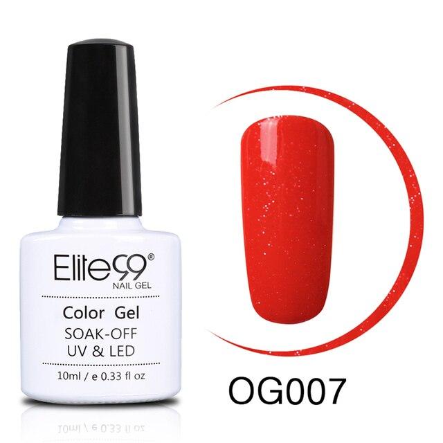 Elite99 Orange Farbe Serie Nagel Gel Polish 10 ml UV Gel LED Lampe Maniküre Lack Tränken Weg Heiße Verkäufe Lange langlebige Nail art Gel