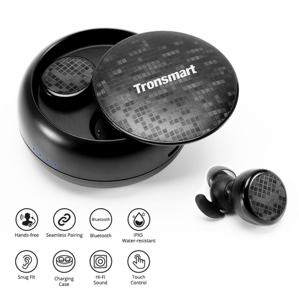 Bluetooth 4.2 True Wireless Earphone Waterproof In-Ear Stereo Earbuds with Mic WaterproofBluetooth 4.2 True Wireless Earphone Waterproof In-Ear Stereo Earbuds with Mic Waterproof