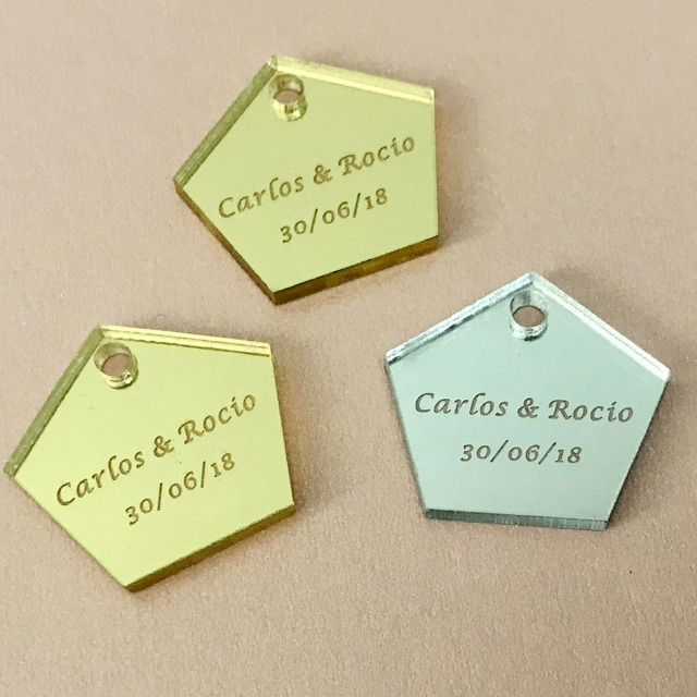 50pcs customized tags personalized engraved baby baptism hangs
