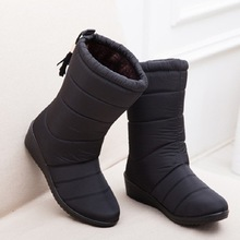 Новые женские ботинки; женские зимние ботинки на пуху; водонепроницаемые теплые зимние ботильоны; женская обувь; женские теплые ботинки на меху; Botas Mujer; повседневные ботинки