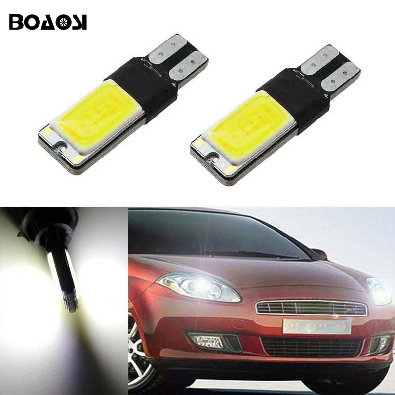 BOAOSI 2x T10 W5W LED Parking Light Marker Lamps For FIAT 500 Punto Stilo Palio Freemont Bravo Ducato Doblo 2 x newest led car door light ghost shadow light welcome laser projector logo for fiat panda doblo ducato bravo stilo 500 punto