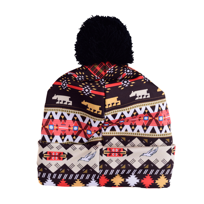 8489ab44a78d5 Aliexpress.com   Buy Hot Sale 3D Full Print Beanie Hat Women Man Aztec Peru  Lion Autumn Winter Cap Bobble Pompon Knitted Christmas Hats Gift from  Reliable ...