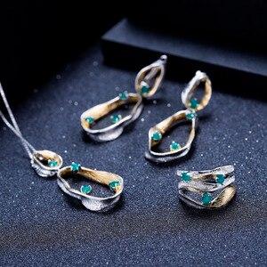 Image 5 - Gemmes BALLET en argent Sterling 925, anneaux torsadés pour femmes, bijoux fins, bandes faites à la main, 0.47ct, pierres précieuses en Agate verte naturelle
