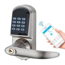 Serrure de porte pour smartphone TTLock, commande avec application Bluetooth, clavier numérique électronique, verrouillage de porte Wifi