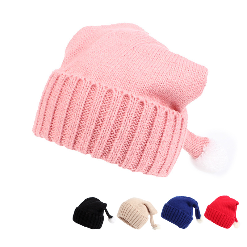 Moda niños Sombrero Sólido Sombrero de invierno de algodón con - Ropa de bebé